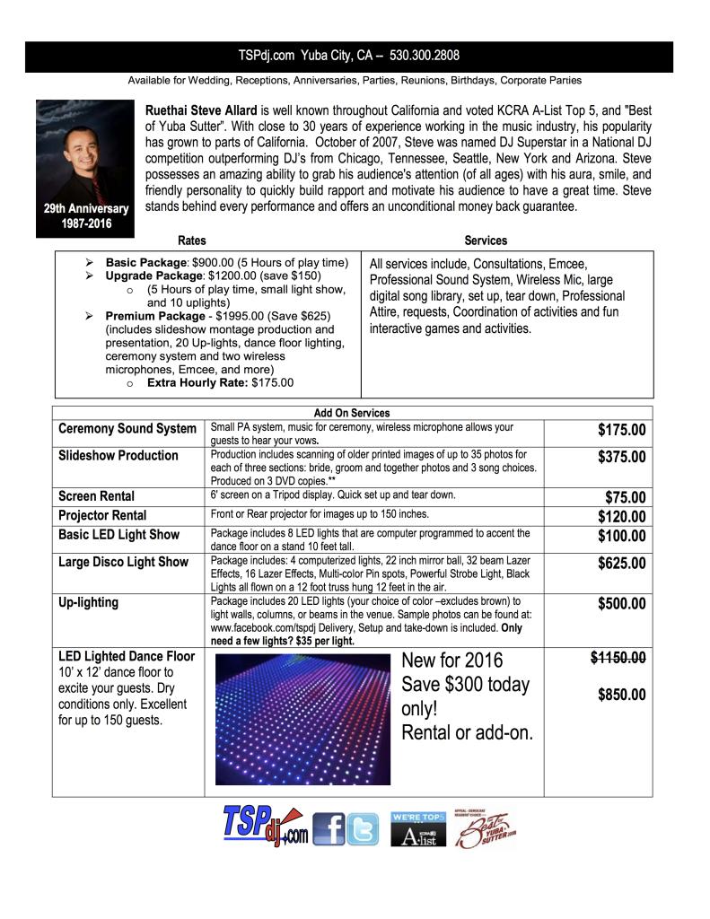TSPdj Price Sheet 0116-Website